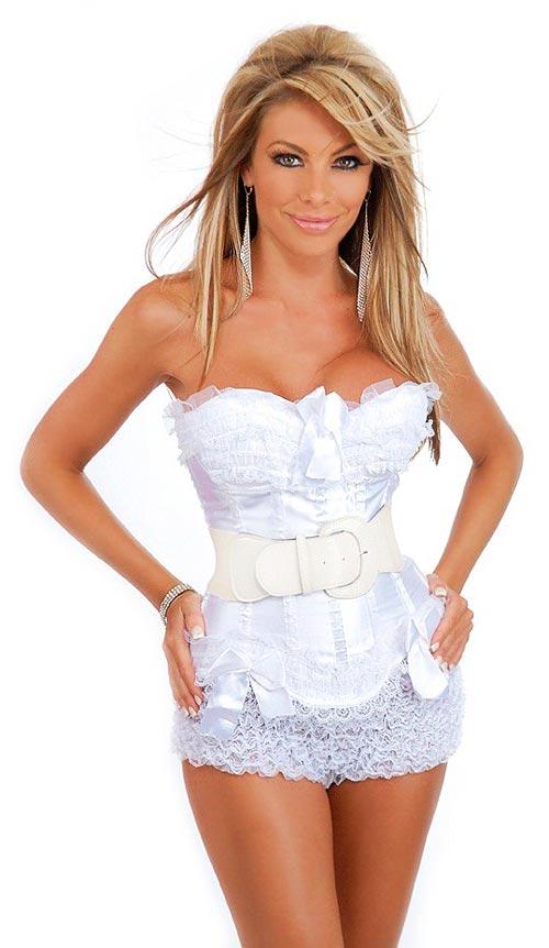 свдебный корсет под платье фото