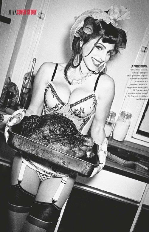 келли брук в журнале Max Italy