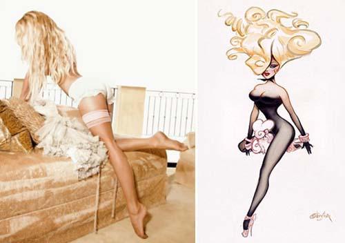 Pamela Anderson в чулках от Couture Nylon