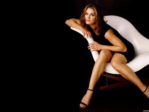 Brooke-Shields в платье