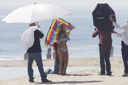 Audrina Patridge фотосессия на пляже в Santa-Monicae