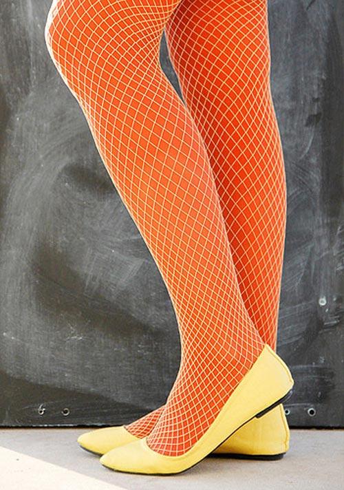 желтые ажурные колготки фото под туфли