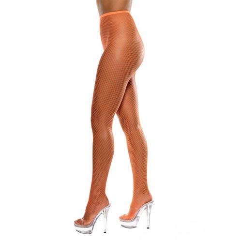 оранжевые модные ажурные колготки фото