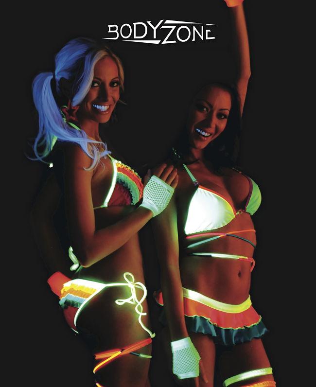 клубные светящиеся неоновые кпальники - фото